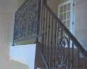 Decorative stairway railing